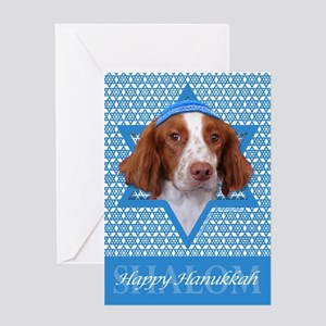 Hanukkah Star of David - Brittany Greeting Card
