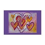 Love Hearts + Poem Words Mini Poster Print