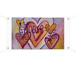 Love Hearts + Poem Words Banner