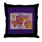 Love Hearts + Poem Words Throw Pillow
