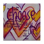 Love Hearts + Poem Words Tile Coaster