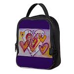 Love Hearts + Poem Words Neoprene Lunch Bag