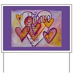 Love Hearts + Poem Words Yard Sign
