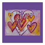 Love Hearts + Poem Words Square Car Magnet 3