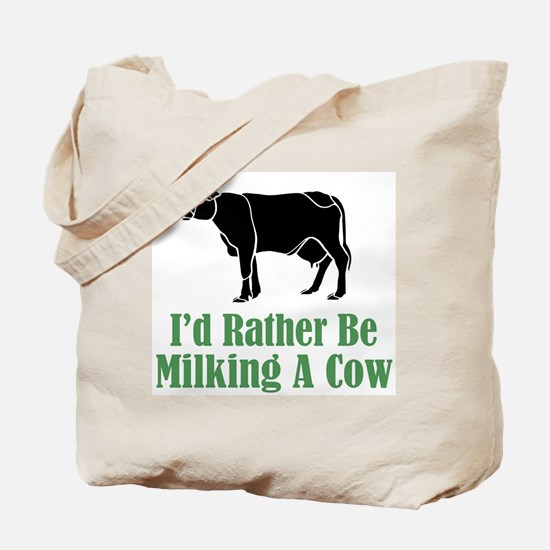 Milking A Cow Tote Bag
