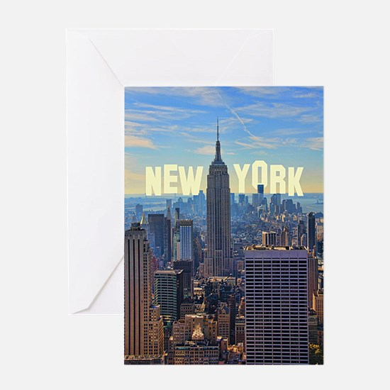 Empire State Building from the Top o Greeting Card