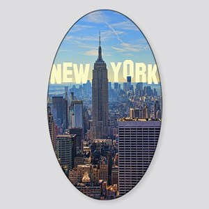 Empire State Building from the Top  Sticker (Oval)