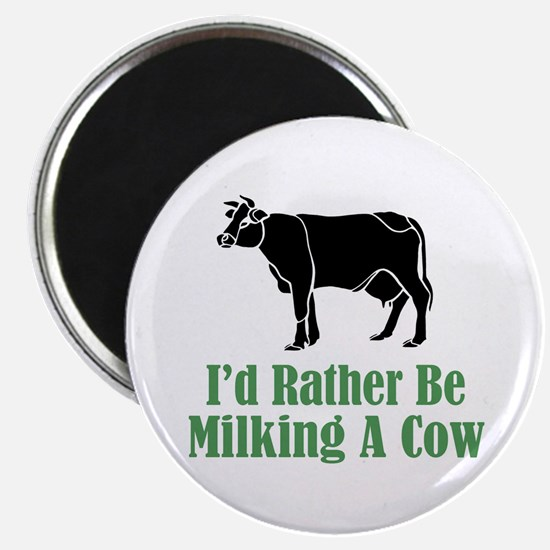 """Milking A Cow 2.25"""" Magnet (10 pack)"""