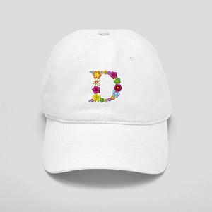 D Bright Flowers Baseball Cap