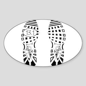13.1a shoeprint shirt Sticker
