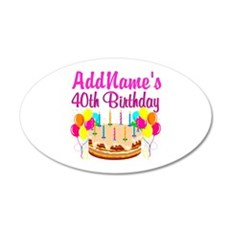 CELEBRATE 40 Wall Sticker