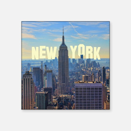 """Empire State Building from  Square Sticker 3"""" x 3"""""""