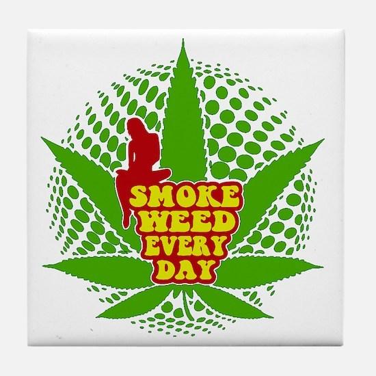 weed cannabis 420 t-shirt Tile Coaster