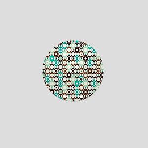 Retro Circles Mini Button