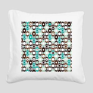 Retro Circles Square Canvas Pillow