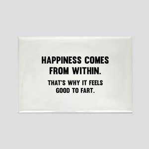 Happiness Comes From Within Rectangle Magnet