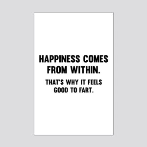 Happiness Comes From Within Mini Poster Print