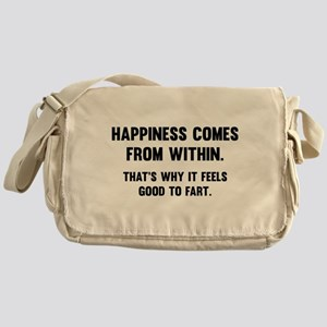 Happiness Comes From Within Messenger Bag
