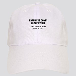 Happiness Comes From Within Cap