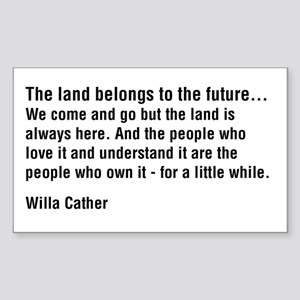 Willa Cather Quotation Rectangle Sticker