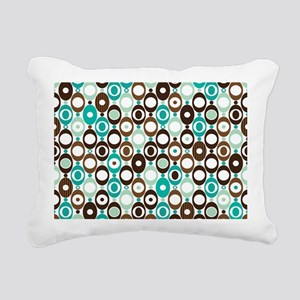 Retro Circles Rectangular Canvas Pillow