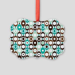 Retro Circles Picture Ornament