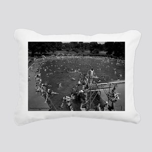 Ottumwa Municipal Swimmi Rectangular Canvas Pillow