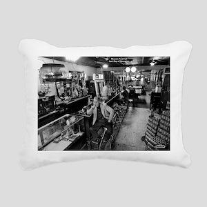 Mission Pool Hall Rectangular Canvas Pillow