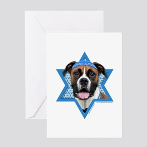 Hanukkah Star of David - Boxer Greeting Card