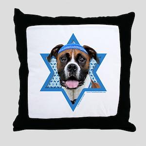 Hanukkah Star of David - Boxer Throw Pillow