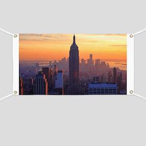 Empire State Building, NYC Skyline, Orange  Banner