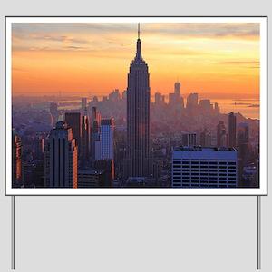 Empire State Building, NYC Skyline, Oran Yard Sign