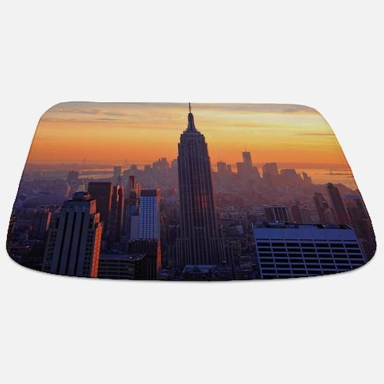 Empire State Building, NYC Skyline, Orange Bathmat
