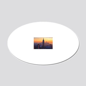 Empire State Building, NYC S 20x12 Oval Wall Decal