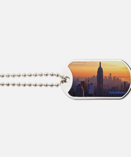 Empire State Building, NYC Skyline, Orang Dog Tags