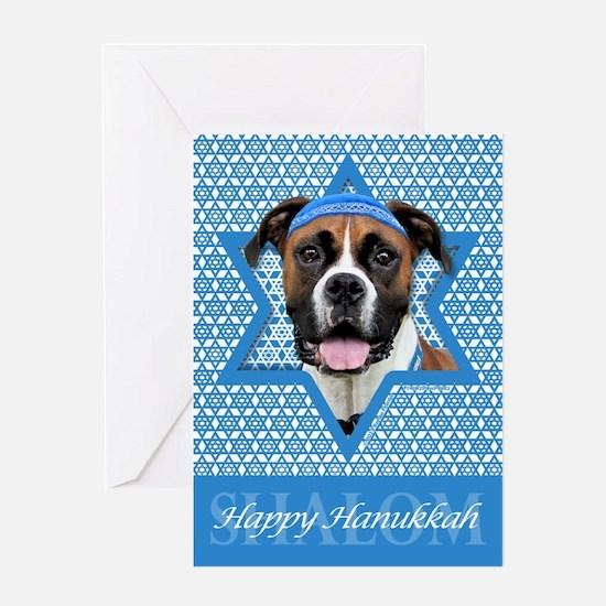 Hanukkah Star of David - Boxer Greeting Card