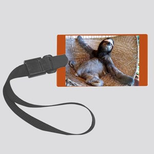2014 Sloth Calendar Featuring Bu Large Luggage Tag