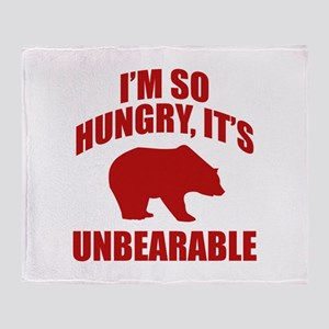 I'm So Hungry It's Unbearable Stadium Blanket