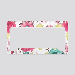 Elegant Flowers License Plate Holder