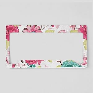 Elegant Flowers License Plate Holder