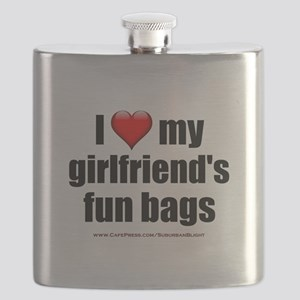 """Love My Girlfriend's Fun Bags"" Flask"