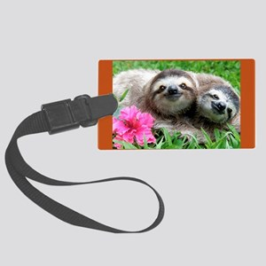 2014 Sloth Calendar Featuring Su Large Luggage Tag