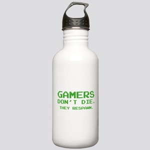 Gamers Don't Die. They Respawn. Stainless Water Bo