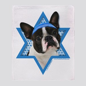Hanukkah Star of David - Boston Throw Blanket