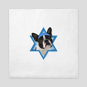 Hanukkah Star of David - Boston Queen Duvet