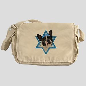Hanukkah Star of David - Boston Messenger Bag