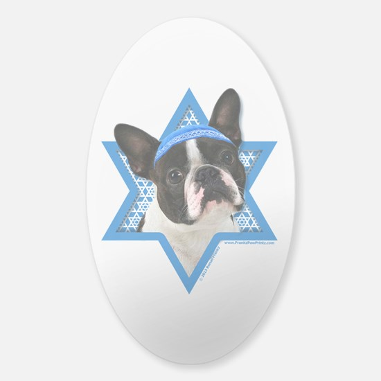 Hanukkah Star of David - Boston Sticker (Oval)