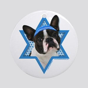 Hanukkah Star of David - Boston Ornament (Round)