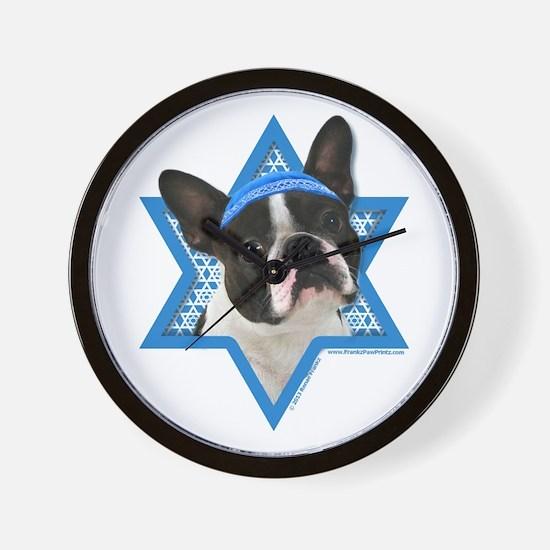 Hanukkah Star of David - Boston Wall Clock