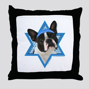 Hanukkah Star of David - Boston Throw Pillow
